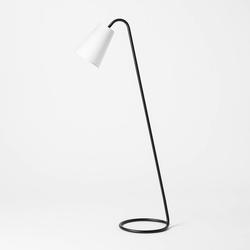 Metal Tube Leaning Floor Lamp (Includes LED Light Bulb) Black - Threshold designed with Studio McGee