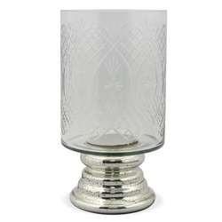 matches21 HOME & HOBBY Kerzenständer Kerzenglas Muster verspiegelt Kerzenhalter