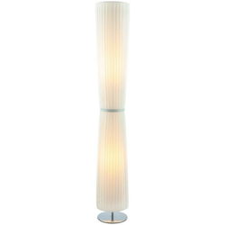 SalesFever Stehlampe Julia, Plissee Lampenschirm aus Latex