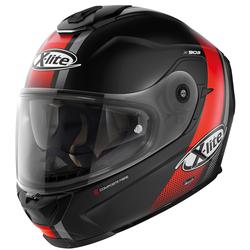 X-Lite X-903 Senator N-Com Helm, schwarz-rot, Größe M