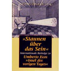 Staunen über das Sein als Buch von Thomas Stauder