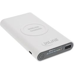 InLine® Qi-Plate Powerbank, 8000mAh, Wireless Charging, induktiv kabellos lad...