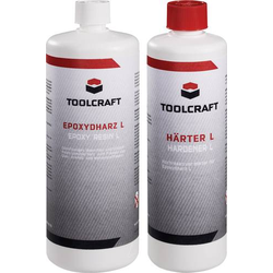 TOOLCRAFT 1230973 Epoxydharz 1000g und Härter L 400g 1 Set