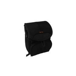 vhbw Universal Tasche Bag Case Gürteltasche schwarz, rot passend für Kamera, Kompaktkamera, Systemkamera, Bridgekamera.