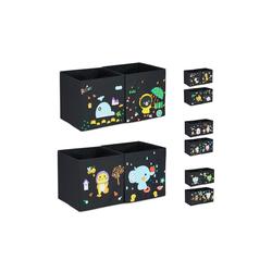 relaxdays Aufbewahrungsbox DIY Aufbewahrungsboxen für Kinder