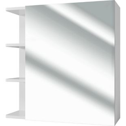 VICCO Badspiegel FYNN 62 x 64 cm weiß - Spiegel Spiegelschrank Wandspiegel