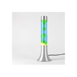 Licht-Erlebnisse Lavalampe YVONNE Lavalampe Blau Gelb Kabelschalter mit Leuchtmittel 38cm hoch Lampe