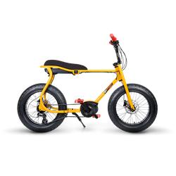 Ruff Cycles Retro Elektrische Fatbike Bosch Middenmotor Lil'Buddy 500Wh Geel