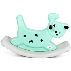 COSTWAY Schaukeltier Schaukelspielzeug Schaukelpferd, für Baby von 6 - 36 Monaten, bis 20 kg grün