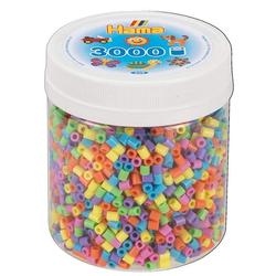 Hama 209-50 - Perlen, Dose mit Bügelperlen, Midi, 3000 Stück, Pastell-Mix