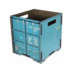 WERKHAUS® Papierkorb Werkhaus - Papierkorb Container Türkis CO1033 Mülleimer Abfalleimer Papierkörbe