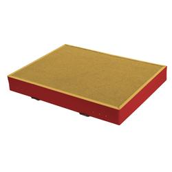 Niedersprungmatte gelb-rot - 200 x 200 x 12 cm
