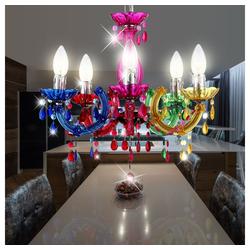 etc-shop Kronleuchter, LED Kronleuchter Hänge Lampen Decken Pendel Leuchten verschiedene Farben bunt