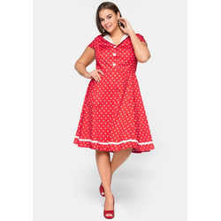 sheego by Joe Browns Cocktailkleid Rockabilly Style mit Polka Dots 48