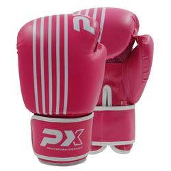 PX Boxhandschuhe SPARRING, PU pink-weiß (Größe: 10 Oz)