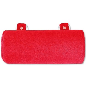 Bestlivings Reisekissen, Badewannenkissen, Nackenrolle in 11x25cm, Kissen für die Badewanne rot