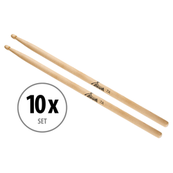 10 Paar XDrum Schlagzeug Sticks 7A Wood Tip