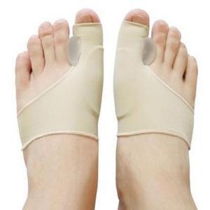 Masbekte Hallux-Bandage, Hallux Valgus Schutz Bandage, Zehenschutz Korrektur Gelkissen Fußbandage, Zehenkorrektor, Zehenbandagen beige