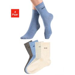 H.I.S Socken (4-Paar) ohne einschneidendes Bündchen bunt 35-38