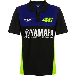 VR46 Yamaha Poloshirt, schwarz-blau, Größe S