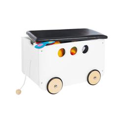 Pinolino® Aufbewahrungsbox Spielzeugkiste mit Rollen 'Jim', weiß weiß