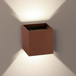 s.LUCE pro Würfelförmige LED Wandleuchte Ixa verstellbare Winkel Braun-Sand