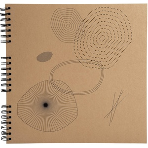 Exacompta 16147E Fotoalbum ETERNECO mit Spitalbindung 60 Schwarze Seiten. Perfektes Fotobuch zum selbstgestalten Spiralalbum braun, hellbraun (kraftpapier), 32x22 cm