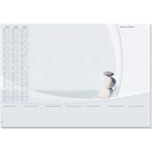 SIGEL HO370 Papier-Schreibunterlage, ca. DIN A2, mit 3-Jahres-Kalender 2021 - 2023 und Wochenplan, 30 Blatt, in nachhaltiger Verpackung