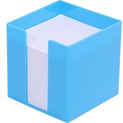 Zettelbox 9,5x9,5x9,5cm 700 Blatt weißes Papier ocean-blue