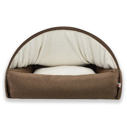 Sleepy Fox® Kuschelhöhlen Hundebett, L, 75 x B 105 x H 65 cm, braun