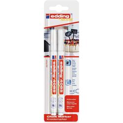 EDDING Kreidemarker 4085, 1 - 2mm, hohe Deckkraft, 2er-Set weiß