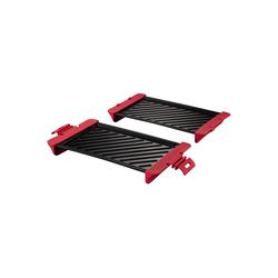 Xavax Mikrowellenteller, (2 Stück), 2x Grillplatte f. Mikrowelle Grillrost Grill Grillgitter Bratpfanne Grillpfanne