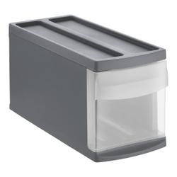 Rotho SYSTEMIX Schubladenbox, 1 Schubfach, Aufbewahrungsbox aus PP-Kunststoff , Maße: 395 x 170 x 203 mm, anthrazit