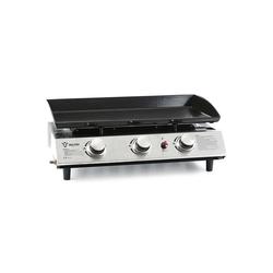 BBQ-Toro Gasgrill BBQ-Toro Gas Plancha 3 flammig, Gasgrill mit emaillierter Pfanne
