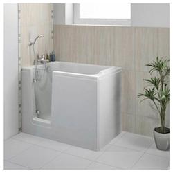 HAK Badewanne DEEP, Sitzbadewanne mit Tür, 121 x65cm, links
