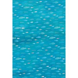 Heyda Designpapier Hotfoil, Fische 200 g/qm blau