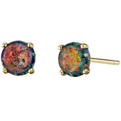Goldene Ohrringe mit schwarzen Opalen Signy