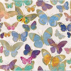 "Papierservietten ""Goldene Schmetterlinge"", 33 x 33 cm, 20 Stück"