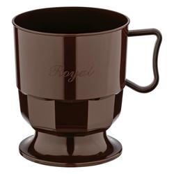 Royal Cup Henkeltasse Kaffeetasse 0,2l | 200ml braun PS, 12 Stk.