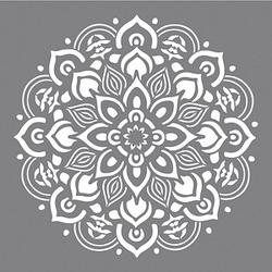 Rayher Dekor-Schablone Mandala grau