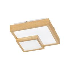 Wofi LED-Deckenleuchte Hudson in weiß/Eiche, 35 cm