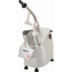 Bartscher GMS550 Gemüseschneider, Schneidemaschine inklusive Raspelscheiben, Schneidscheiben und Stopfer, 1 Stück