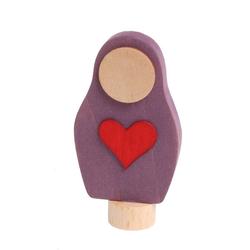 GRIMM´S Spiel und Holz Design Lernspielzeug, Herz-Matroschka