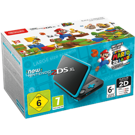 Nintendo New Nintendo 2DS XL schwarz / türkis + Super Mario 3D Land (Bundle)