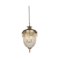Art Deco Hängelampenkristall mit Gold 40 cm - Cesar