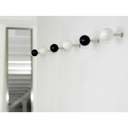 Wandhaken Dots Schönbuch schwarz, Designer Apartment 8, 9 cm