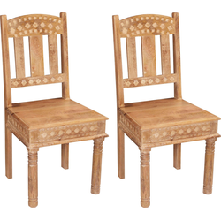 SIT Stuhl aus recyceltem Altholz im 2er-Set natur