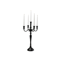 KARE Kerzenständer Kerzenleuchter Chalet Matt Schwarz 63cm