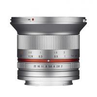 12 mm F2,0 NCS CS Fuji X silber
