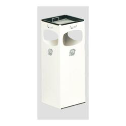 VAR Ascher/Abfallsammler mit 4-fach Einwurf weiß 28 l - Mülleimer/ Abfalleimer